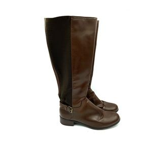 Target below knees riding boots faux leather sz 9